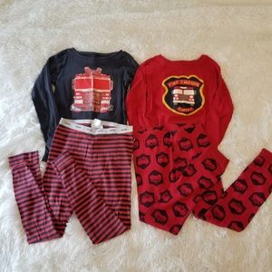 BABY GAP BOYS PAJAMAS FIREFIGTHER 5 years